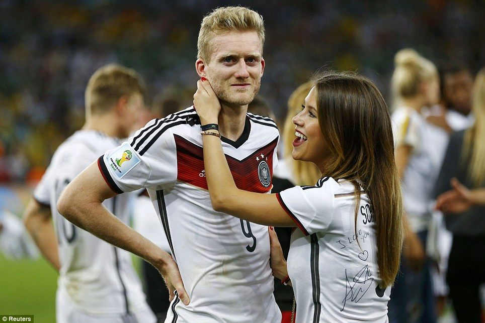 Germany S Wags Celebrate In Style Andre Schurrle World Cup Wife And Girlfriend