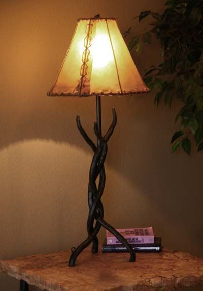 Forged Iron Table Lamp 412a Western Lamps Hand Forged Iron Table
