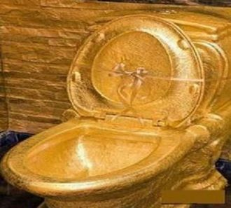 Terrific The Sultans Golden Toilet Shades Of Gold Gold Victorian Inzonedesignstudio Interior Chair Design Inzonedesignstudiocom