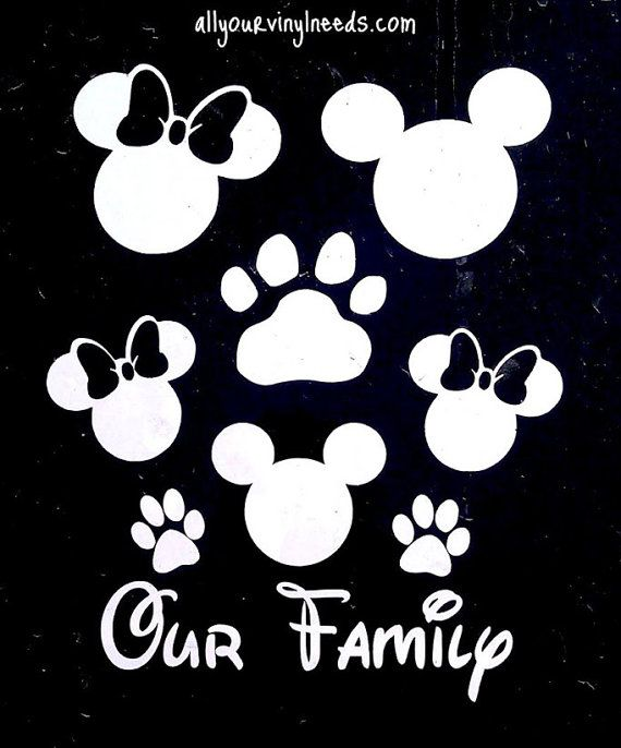 Mickey Minnie Family Car Window Decal By Kreationzkidzdotcom - Family car sticker decalsbest silhouette for the car images on pinterest family car