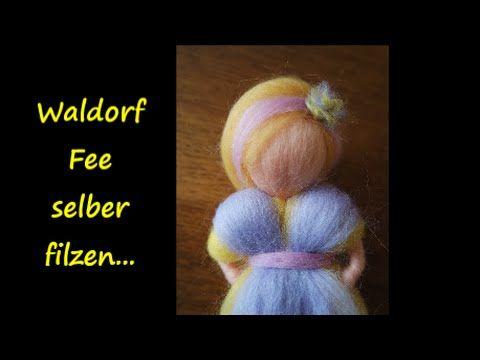 Filzanleitung Frühlingsfee aus Märchenwolle - trolle-und-wolle.de - YouTube #feltedwoolcrafts