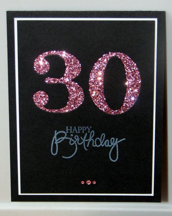 30th Birthday Card Milestone Birthday Custom by GlitterInkCards ...
