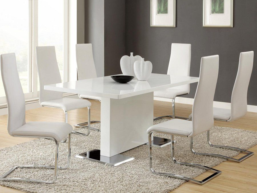 Chrome White Dining Collection Rana Furniture
