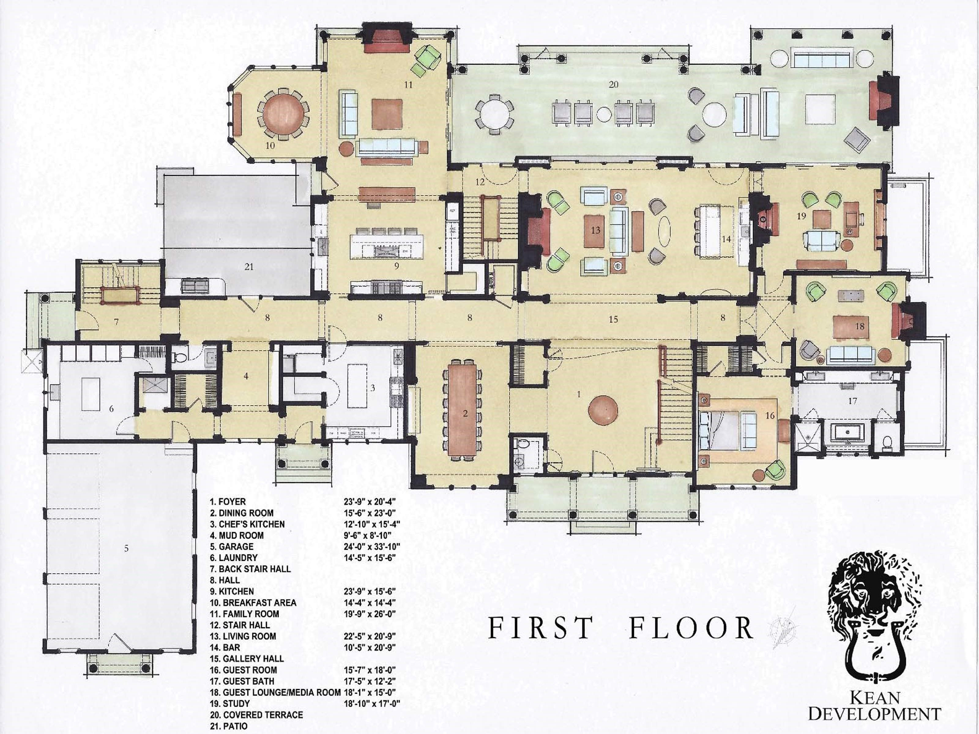 floor plan0 planos de mansiones pinterest