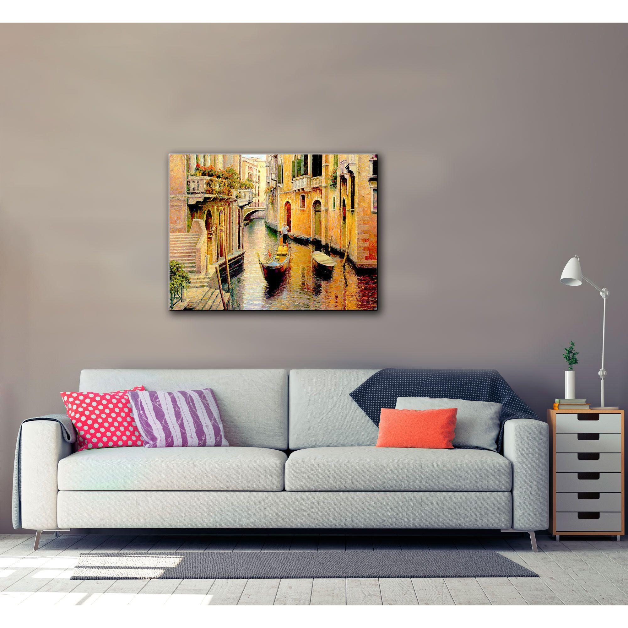 Artwall uhaixia liuus golden evening gondolau gallery wrapped canvas
