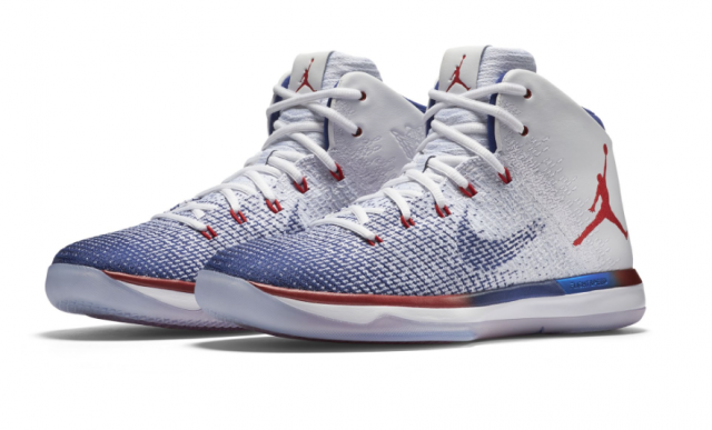promo code d59da d53ce Air Jordan 31 USA  Olympic colorway White University Red and Deep Royal Blue