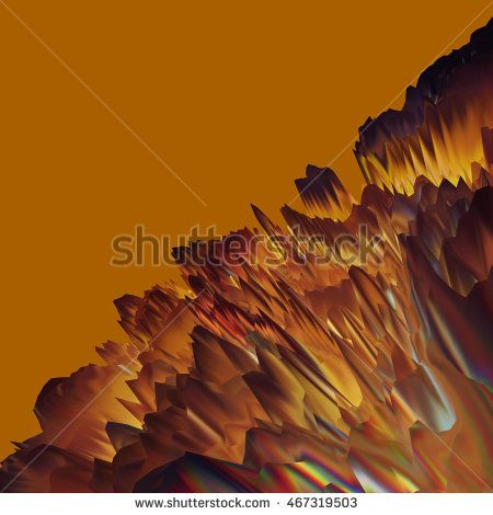 Glitch manipulations with 3D effect. Abstract landscape with sharp peaks on…