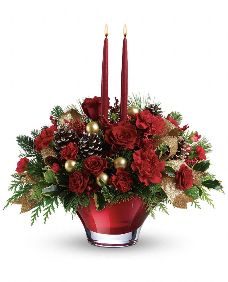Holiday Flair Centerpiece : Starting at $64.95 – Deluxe upgrade costs $74.95 and Premium upgrade costs $84.95