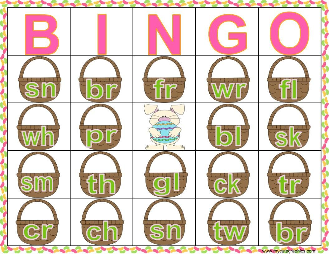 Consonant Cluster And Consonant Digraph Easter Jelly Bean