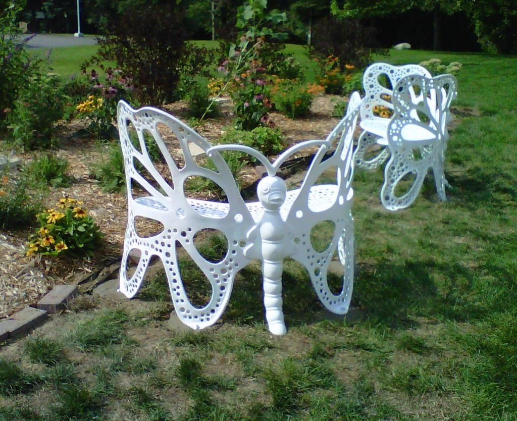 Butterfly metal chair - Butterfly Garden Bench Is Absolutely Stunning