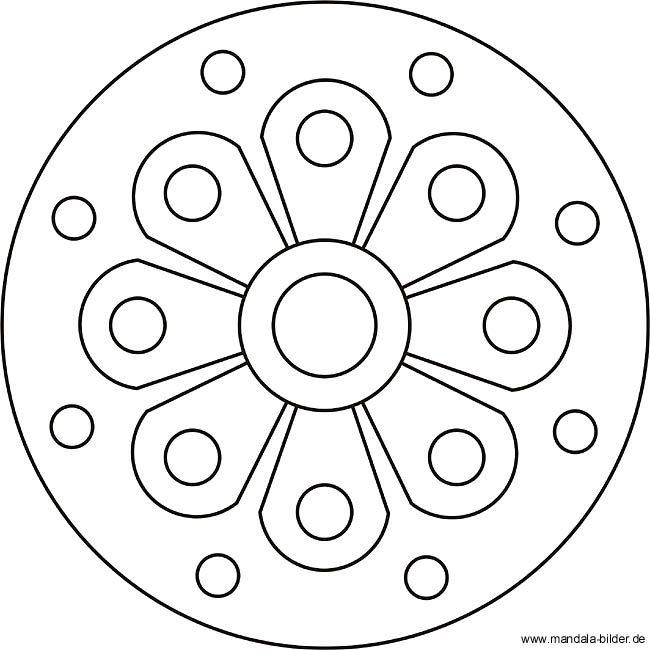 Blumen Mandala fr Kinder ab 4 jahren  Mandala  Pinterest