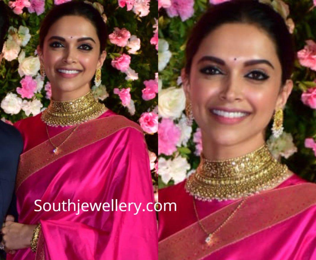 Deepika Padukone in antique gold jewellery photo ...