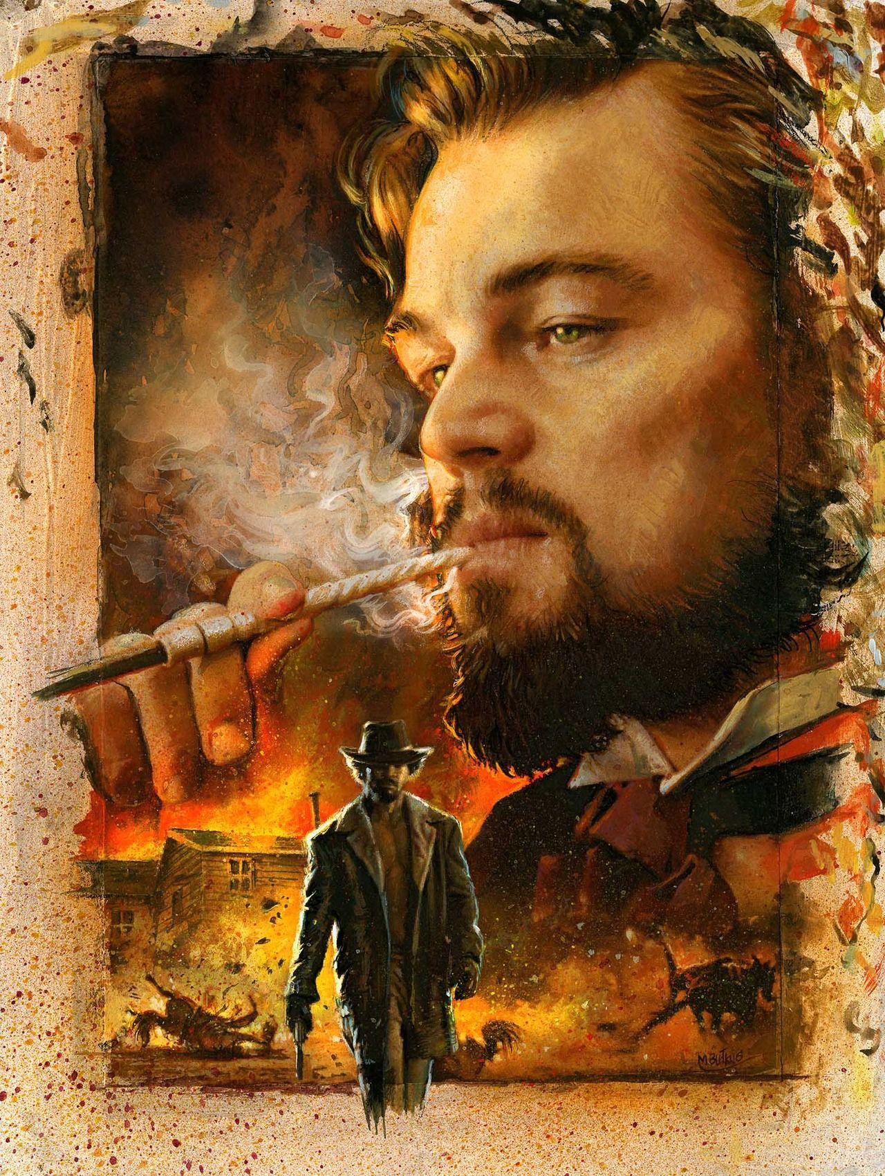 Django Unchanged Replica Movie Poster Large 24x36 Tarantino PopArt