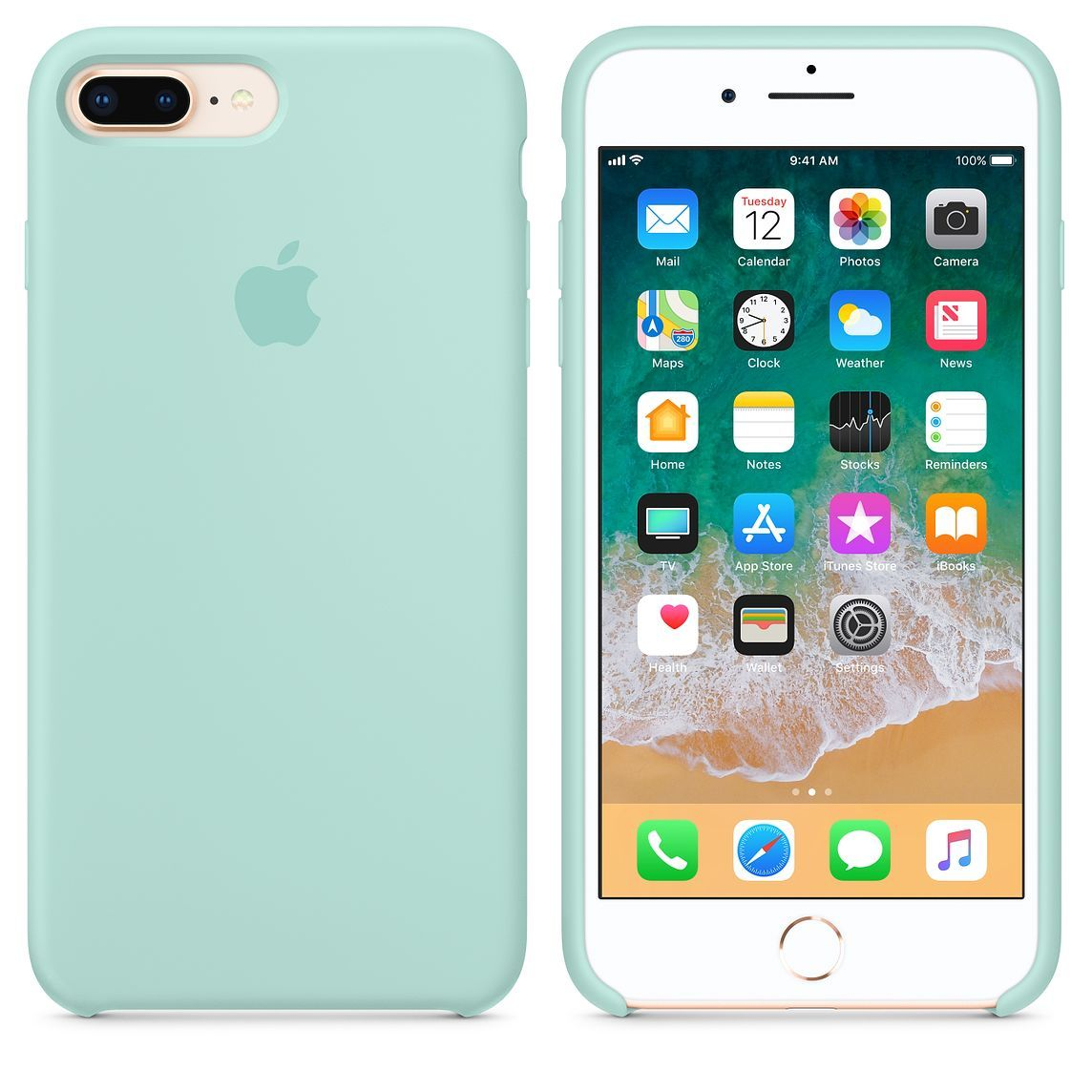 Funda Silicone Case Iphone 7 Plus Original Protector Colores