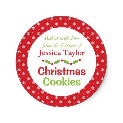 Personalized Christmas Cookie Swap Gift Stickers #christmas #cookieswap #cookieexchange