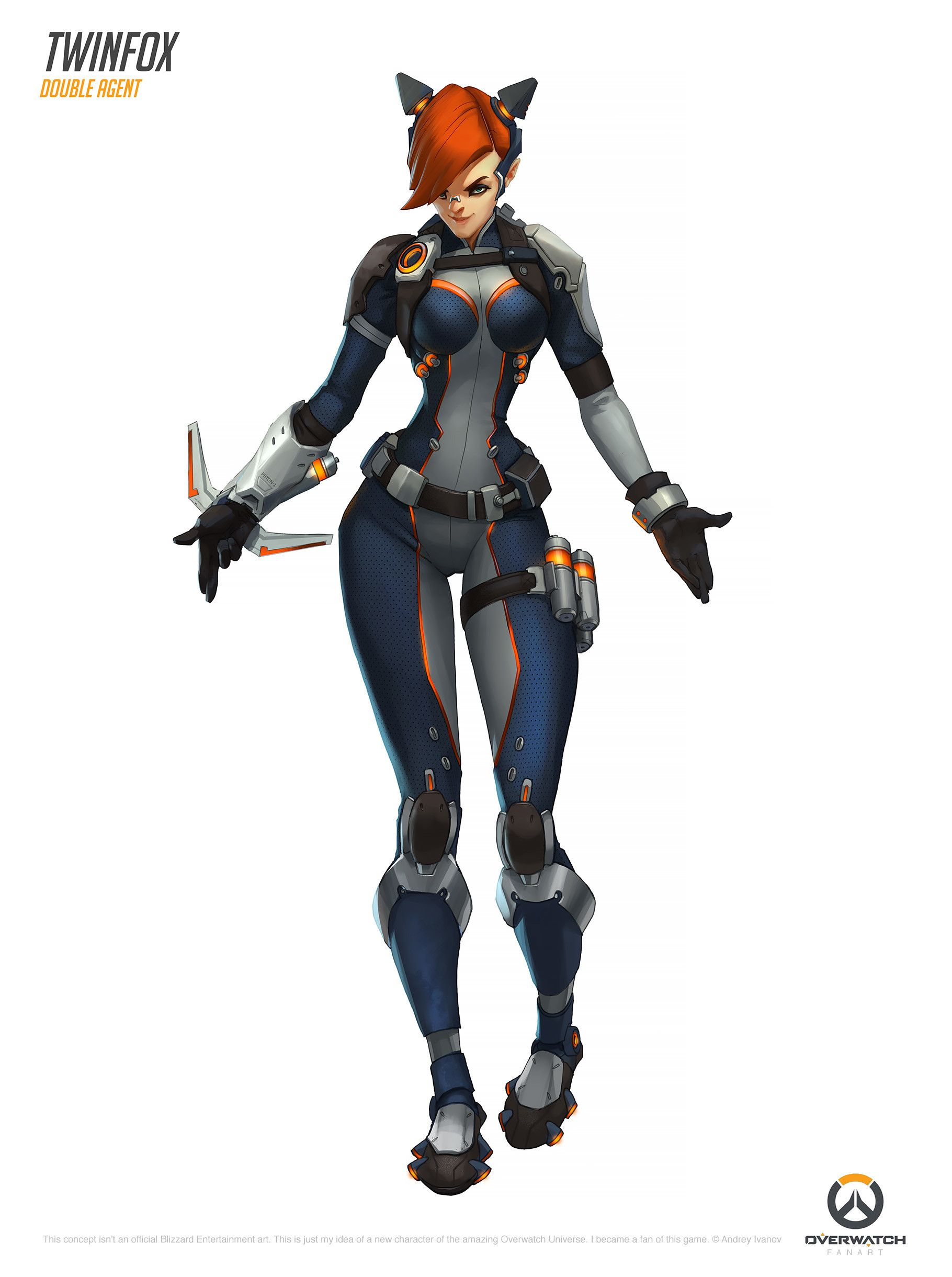 Character Design Overwatch : Story an unknown agent which appeared on the peak of