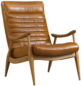 dwellstudio hans chair - reynolds leather/caramel