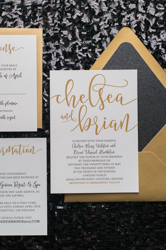 Chelsea Suite Glitter Package Black And Gold Glitter Wedding