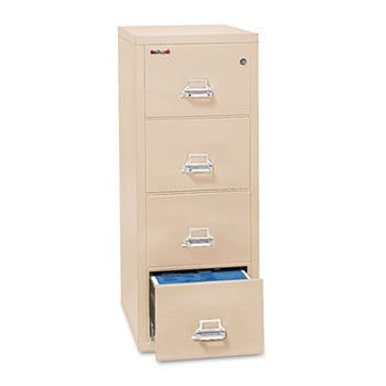 Four-Drawer Vertical File, 20-13/16w X 25d, Ul 350 For Fire, Legal, Parchment