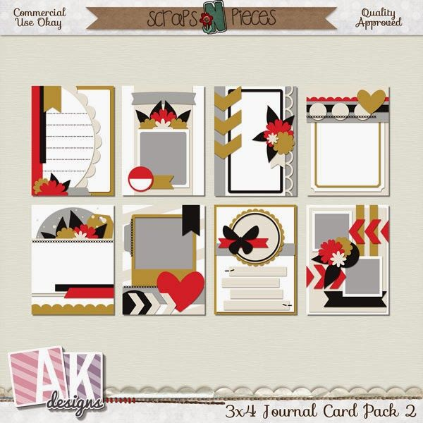 $1 Templates! Large Photo and 3x4 Cards - DigiShopTalk Digital Scrapbooking
