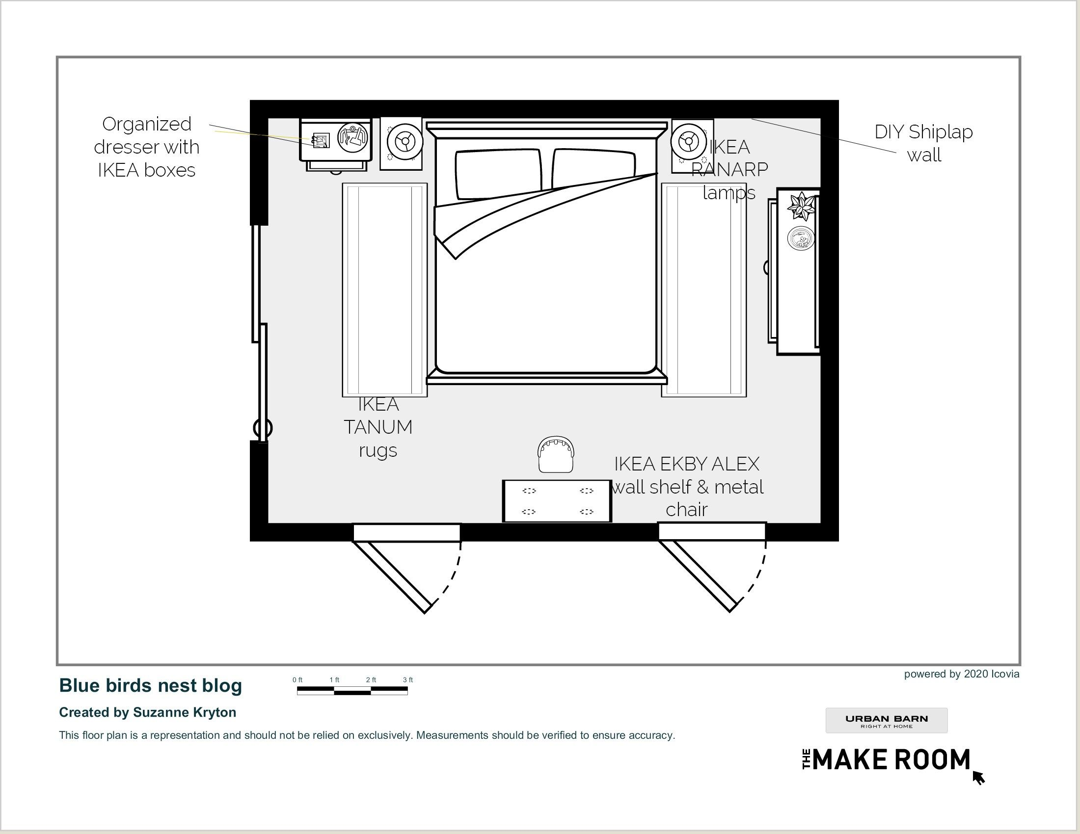 Master Bedroom Mood Board and Floor plan E-Design with