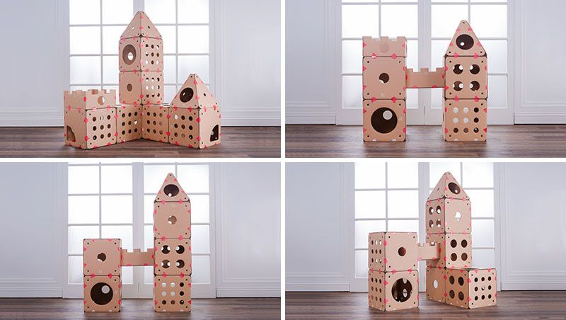 Attrayant BOXKITTY Modular Cardboard Cat House Components Let You Customize The  Design.