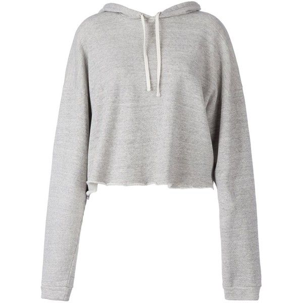 Faith Connexion Cropped Hoodie (£180) ❤ liked on Polyvore featuring tops, hoodies, sweaters, jackets, grey, hooded pullover, gray hoodie, grey hoodies, grey hooded sweatshirt and gray hooded sweatshirt