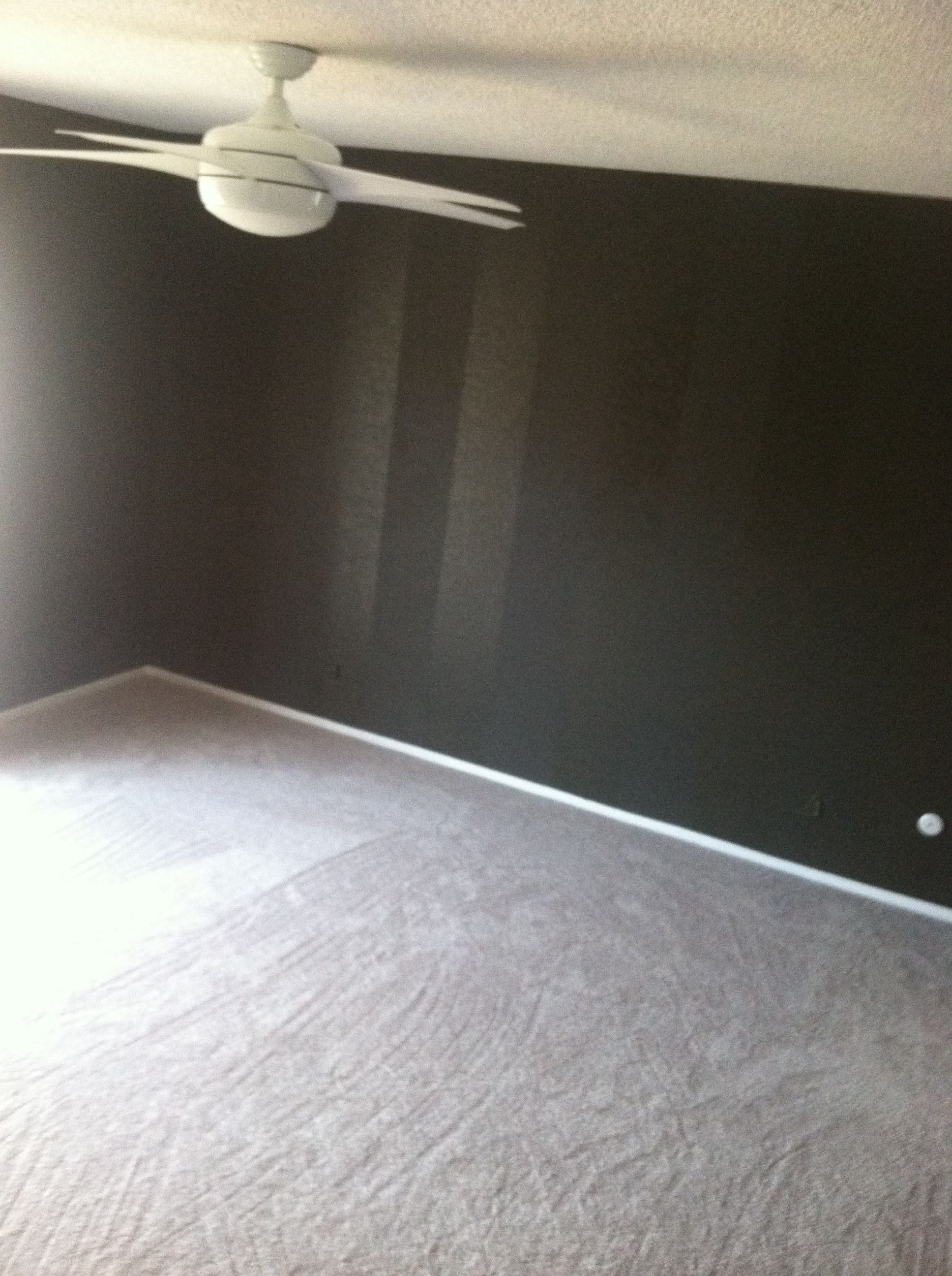 Vertical wall stripes, matte n gloss paint and....... New