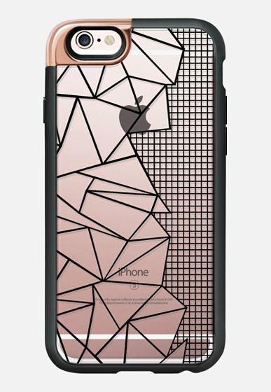 info for be30a 2f12c Ab Outline Grid on Side Black Transparent | Casetify | New Standard ...