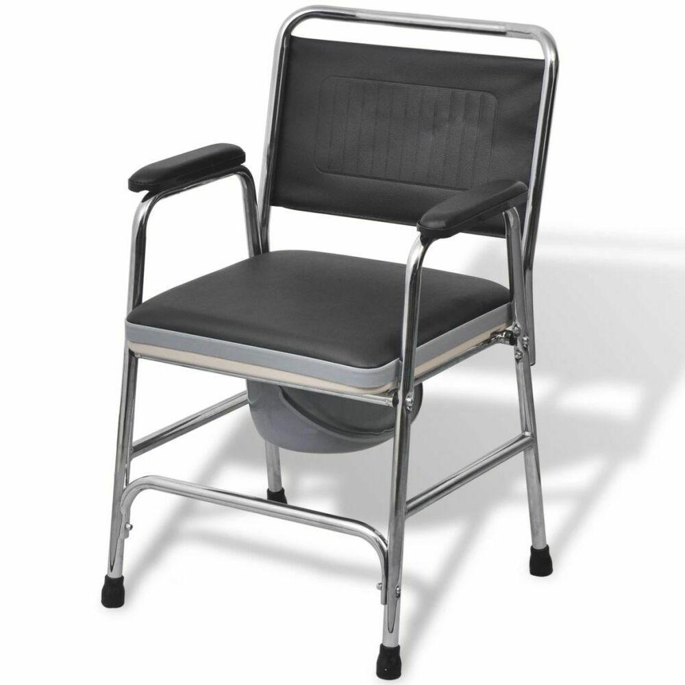 Ebay Sponsored Vidaxl Toilettenstuhl Feststehend Pu Stahl 100kg Nachtstuhl Wc Stuhl Rollstuhl Stuhle Duschsitz Toiletten
