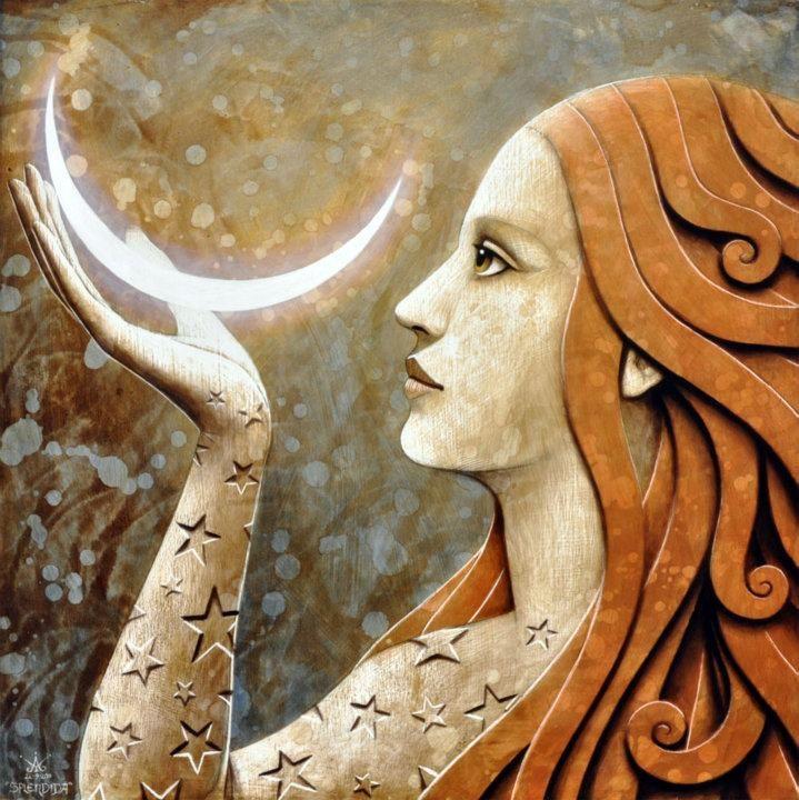 moon - painted by Matteo Arfanotti