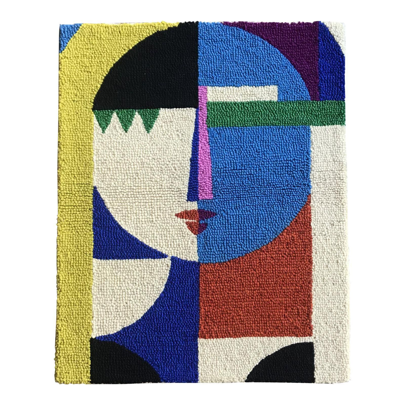 Female Abstract Color Block Wall Textile | Bill and Steve ...