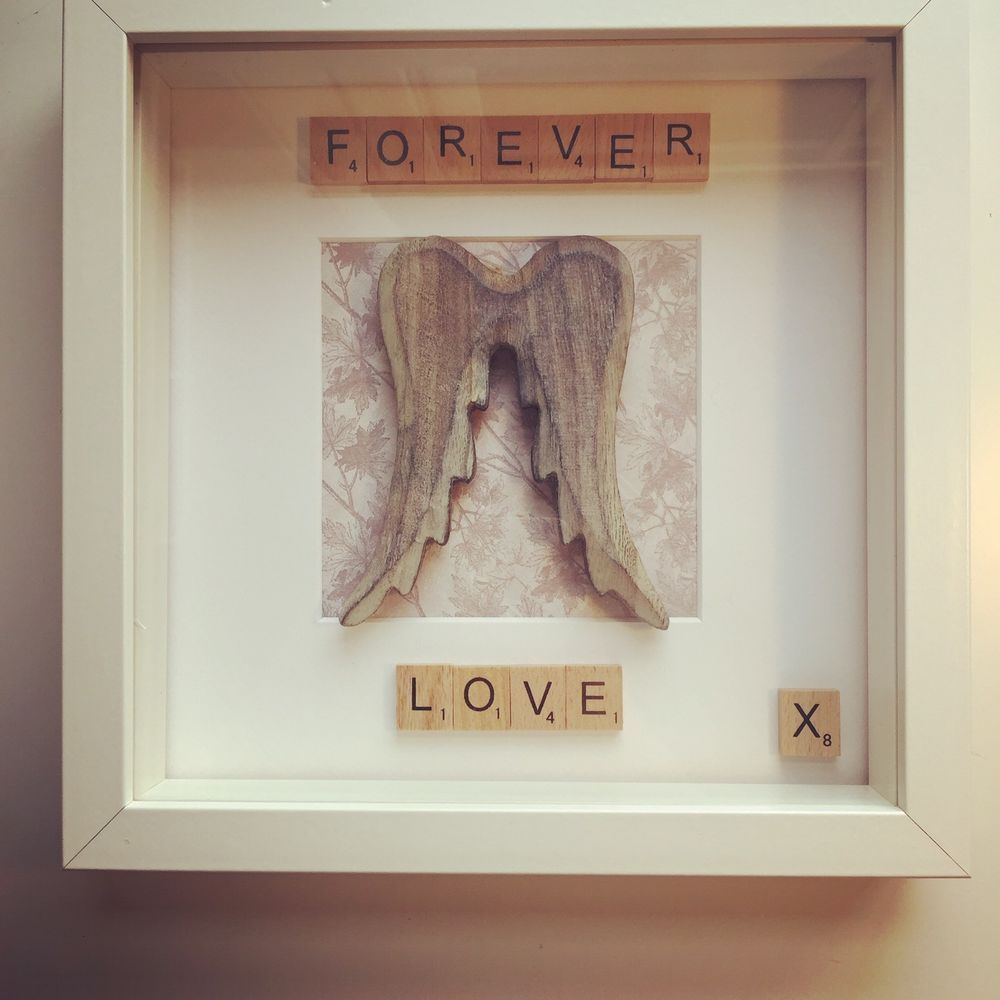 Angel wings picture wooden wings box frame any occasion birthdays angel wings picture wooden wings box frame any occasion birthdays jeuxipadfo Image collections