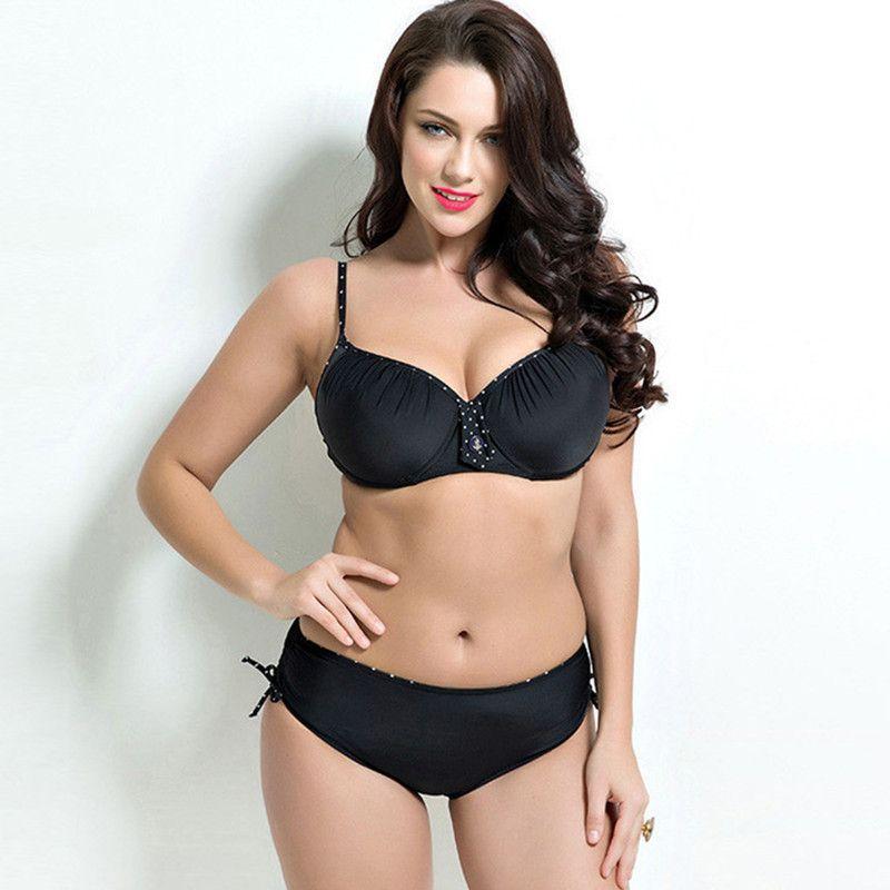 Plus Size Bikini Set with Push Up Top