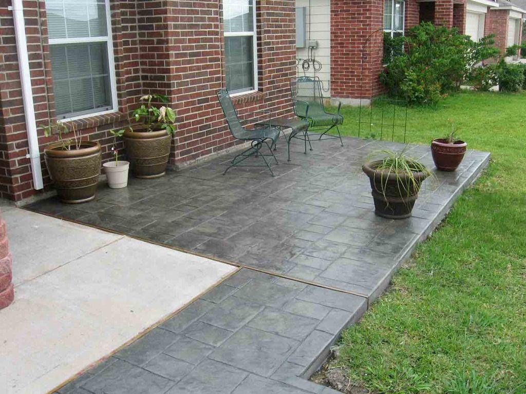 Small Ashlar Slate Increte Of Houston Concrete Decor Outdoor Inspirations Patio