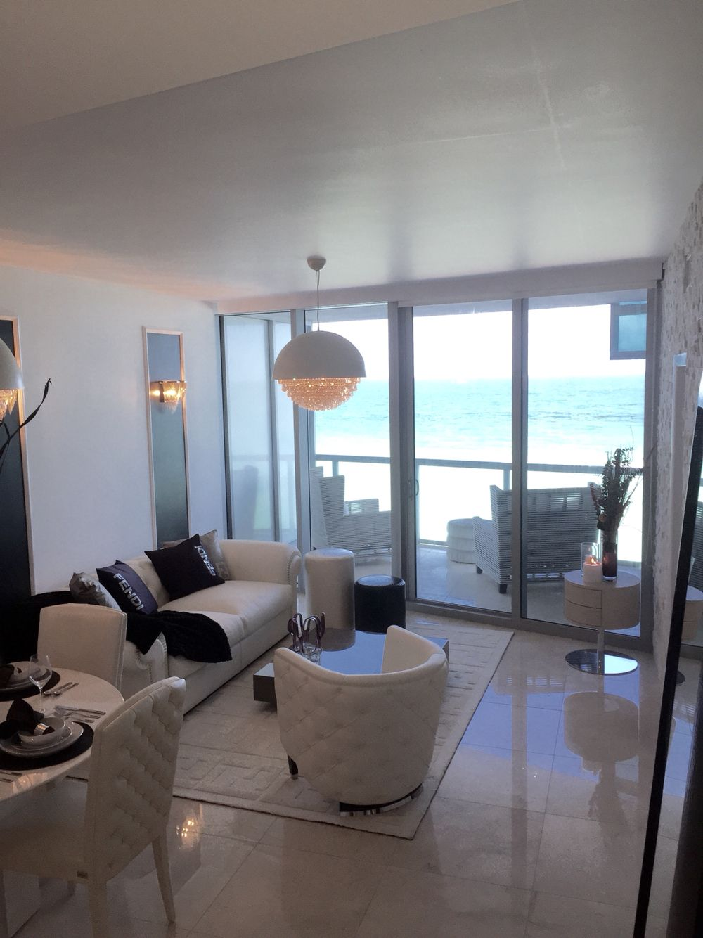 Amazing beachfront views fendi casa interior furniture negotiable 17121 collins ave 806 sunny isles beach fl 33160 welcome home