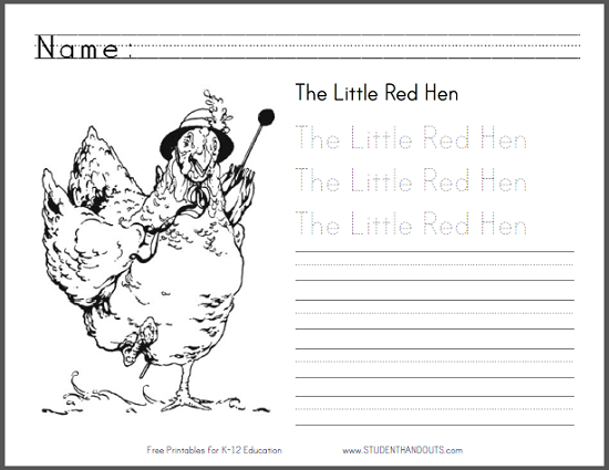 26+ The little red hen coloring page free download