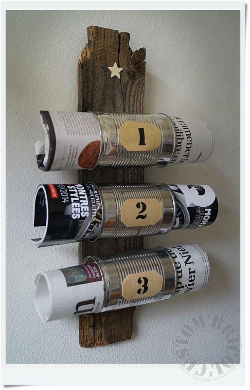 Hermoso revistero a partir de unas latas de conservas y - Decoration pour porte ...