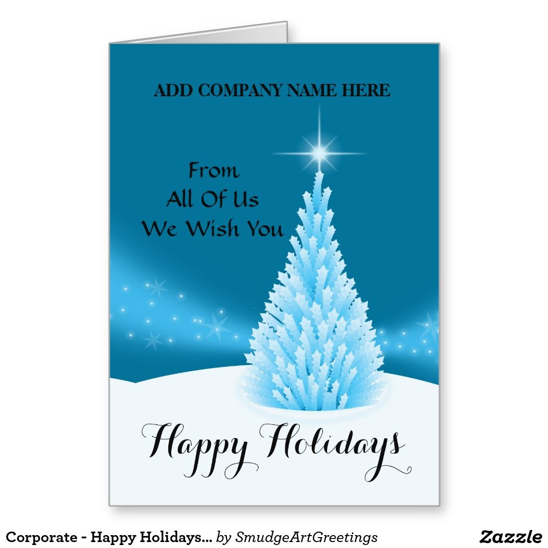 Corporate happy holidays from all of us tree greeting card corporate happy holidays from all of us tree greeting card m4hsunfo