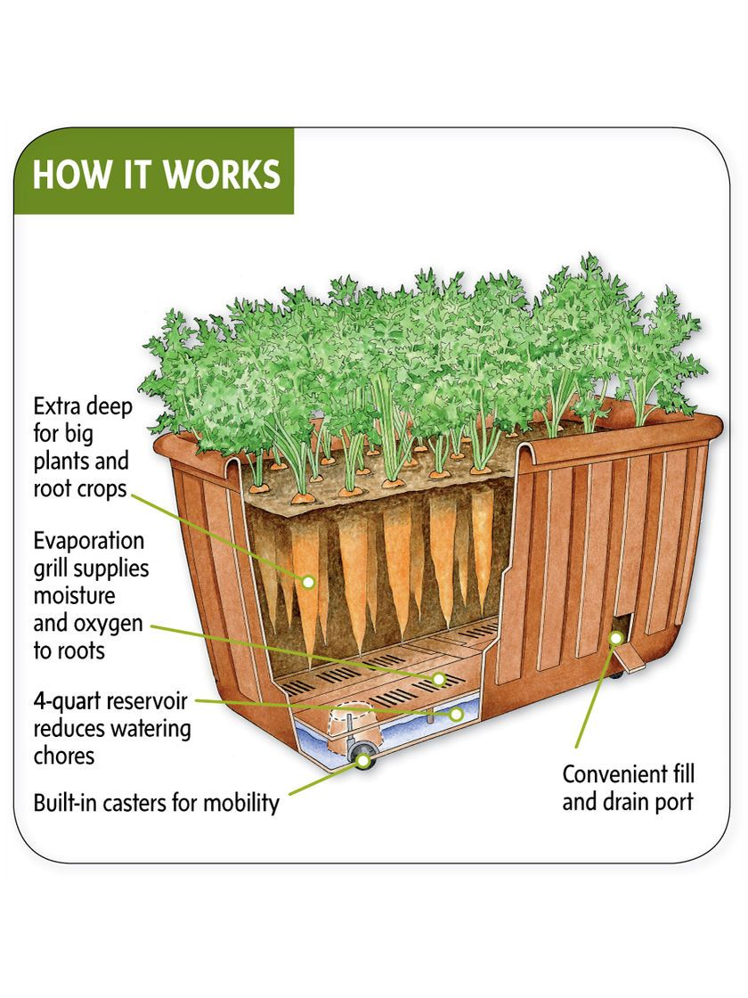 Self Watering Planter With Casters Light Weight Planter