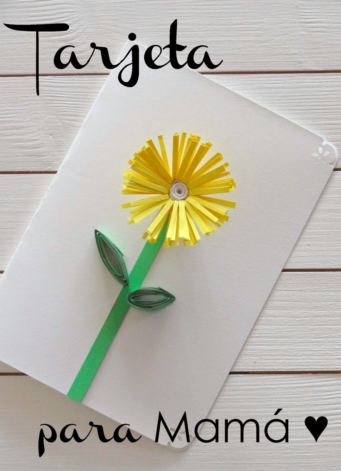 Tarjeta Para El Dia De La Madre Manualidades Tarjetas Faciles Tarjetas Para Mama