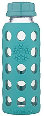 Amazon Com Lifefactory Lf210012c4 Bpa Free Glass Flat Cap And Silicone Sleeve Water Bottle 9 Oz Raspberry Kitchen Di Glass Baby Bottles Bottle Baby Bottles