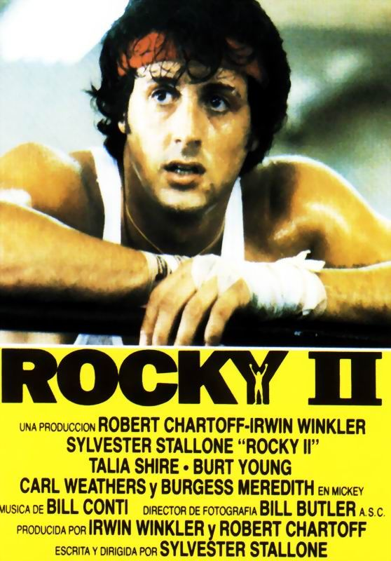 Rocky Ii This Is Tricky Because I Think In Many Ways The First Is Better But Being A Sap I Just Naturally Prefer T Rocky Ii Lixeira Carro Sylvester Stallone