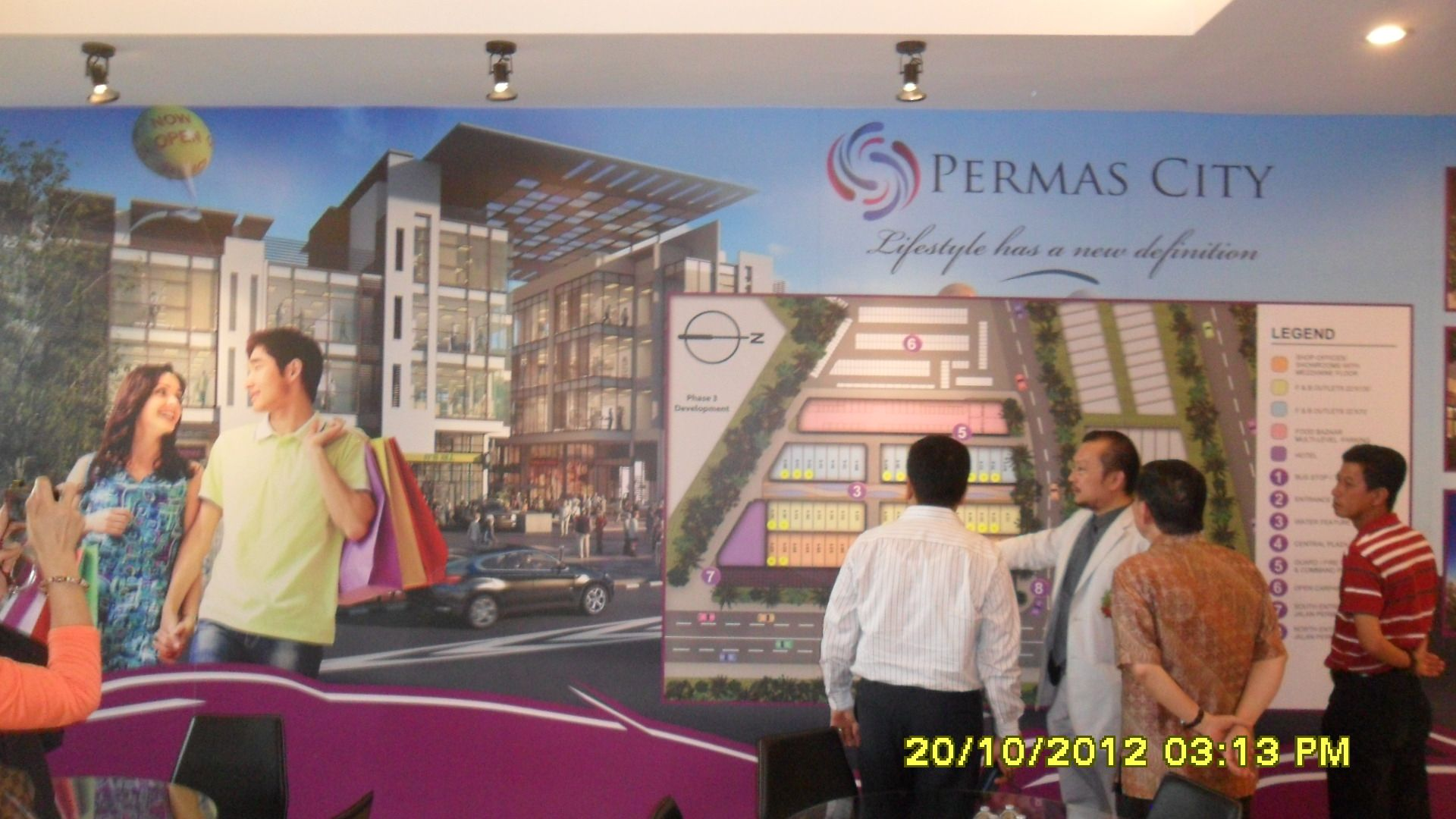 Layout plan for Permas City