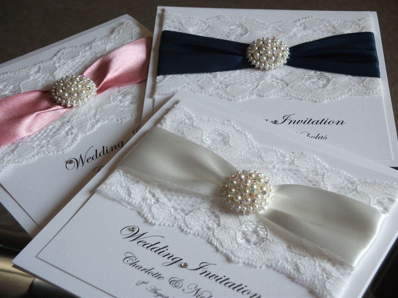 Handmade Wedding Invitation sample - The Vintage Pearl. £3.50, via ...