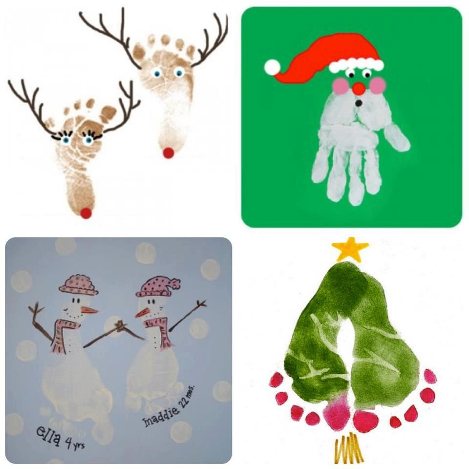 #Christmas Handprint/footprint Ideas