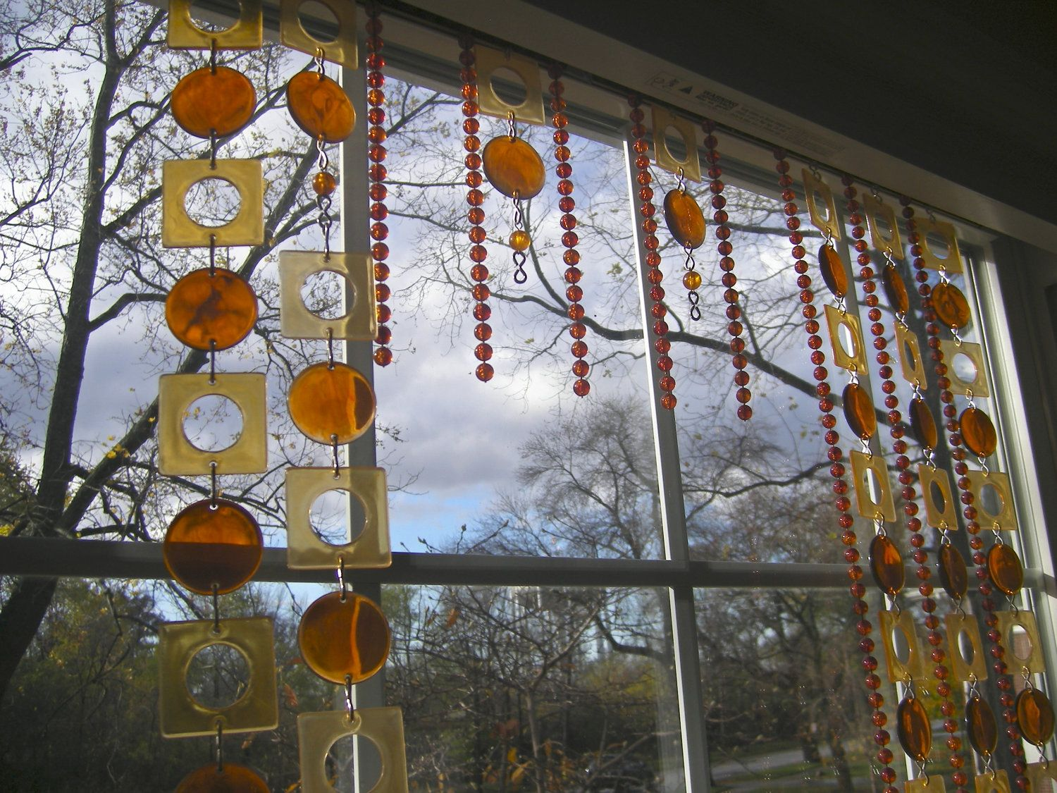 Vintage Beaded Curtain 70 S Style Geometric And By Margosmuse