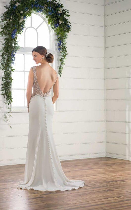 Sheath Vintage Wedding Dress | Vintage weddings, Wedding dress and ...