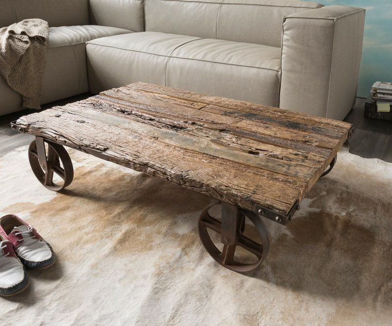 Driftwood Furniture Visually Enhances The Interior Driftwood Furniture Driftwood Coffee Table Reclaimed Wood