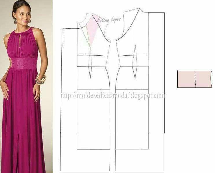 Vestido Griego Largo | Patrones y Prendas | Pinterest | Vestidos ...